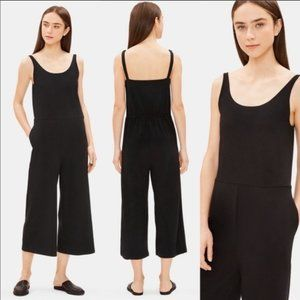 NWT Eileen Fisher Wide-Leg Cotton Stretch Jumpsuit